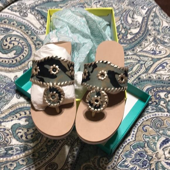 0390fef0104 NWT Jack Rogers Captiva camo boating sandal size 7